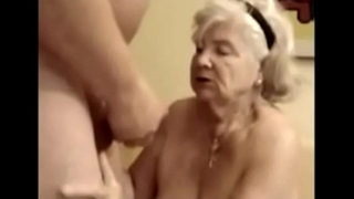 89 years old granny suck dig up