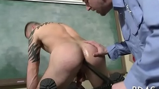 Twinks enjoys blowjob with a cop by engulfing his big dick hard