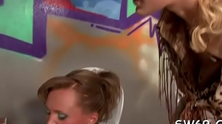 Hot gloryhole blowjob act with knockout getting all muddy