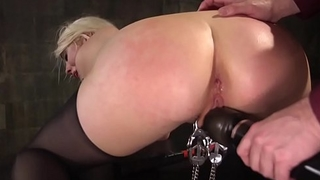 Tattooed sub MILF anally fucked and toyed