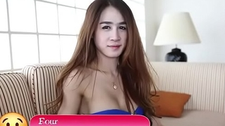 Nasty asian ladyboy plays some blow job and hardcore with a dude