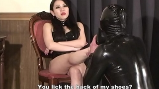 Japanese Femdom Saran Bottom Fetish and Strapon