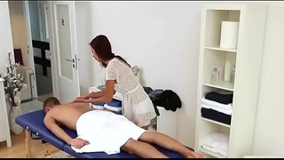Mighty chap begins fucking right inside massage saloon