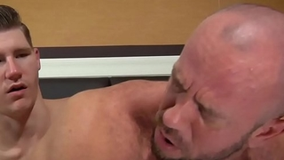 Daddy Matt Stevens Takes HUGE Dildo In Gape