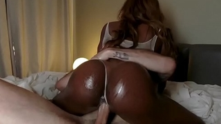 Kinsley caressed and fucked by white guy