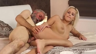 Elderly person and twosome s Surprise your gf and she will nail with your dad