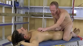 Kinky young man rubbing cocks with handsome tied up twink