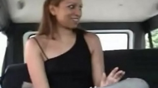 Man scores a pretty explicit to bang her hardcore in a bus