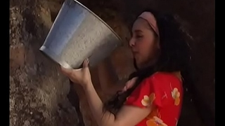 Mexican wife gets finger fucked at the well
