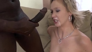 Mature fucked hard by black supplicant cums in her mouth and facial