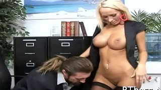 Beautiful babe gets her big tits and soaked pussy fucked hard