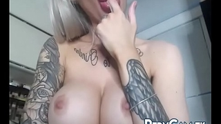 Lips With an increment of Mouth Fetish Vaping Camgirl With Tattoos