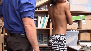 Young Black Girl Ivory Logan With Perfect Tits Caught Shoplifting Fucked By White Officer