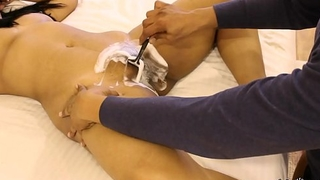 Mona Bhabhi Getting Her Indian Pussy Shaved By Her Husband
