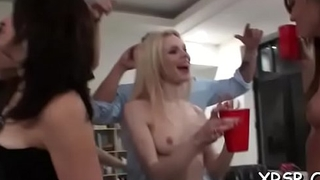 Erotic tenacious slit plowing during  a sloppy sex party