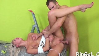 Perverted pal stuffs juicy anal of his girlfriend by his knob