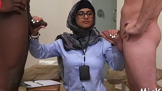 Two deserted arab babes take a lesson about vehement cock-sucking