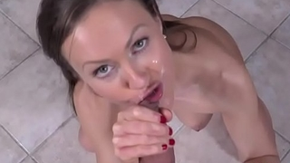 Muddy Cumshot Facialized Hot Babe