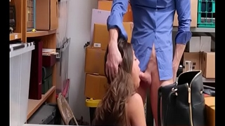 Dumb Shoplifting Cunt Spy-Camera Fucking In Shop Backroom