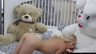 Erotic model Nika N first time sex out of reach of camera wih teddy linger Jack[part1]