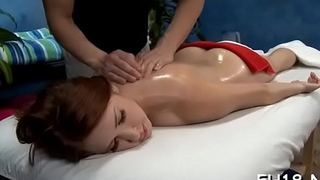Beautiful 18 year old cuteie gets screwed hard by her massage therapist