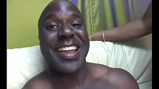 Black guy lets tramp stamp black whore ride his chunky cock on the divan