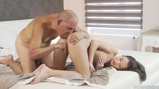 Blonde fucks old guy and stroking step daddy Her Wet Enthusiasm