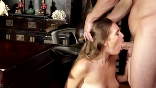 Dicksucking beauty loves her stepdads cock