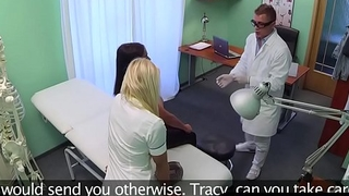 Blonde nurses fingered by euro amateur