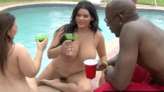 BBWs Angelina Castro &amp_ Lexxxi Lockhart Pounded By Black Cock