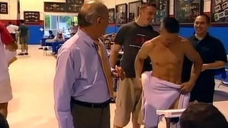 Order of the day dude strips naked in public