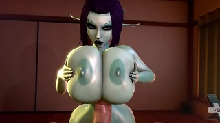 Soria'_s Big Bouncing Titty Titfuck 3D